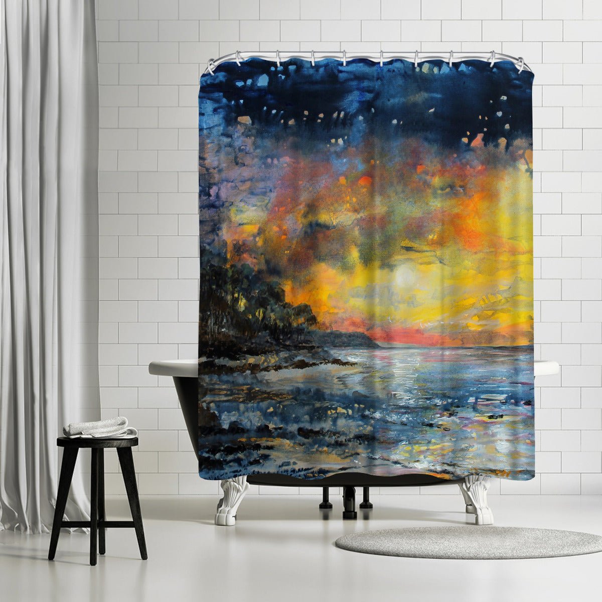 Magic Night by Sandra Francis Shower Curtain - Shower Curtain - Americanflat