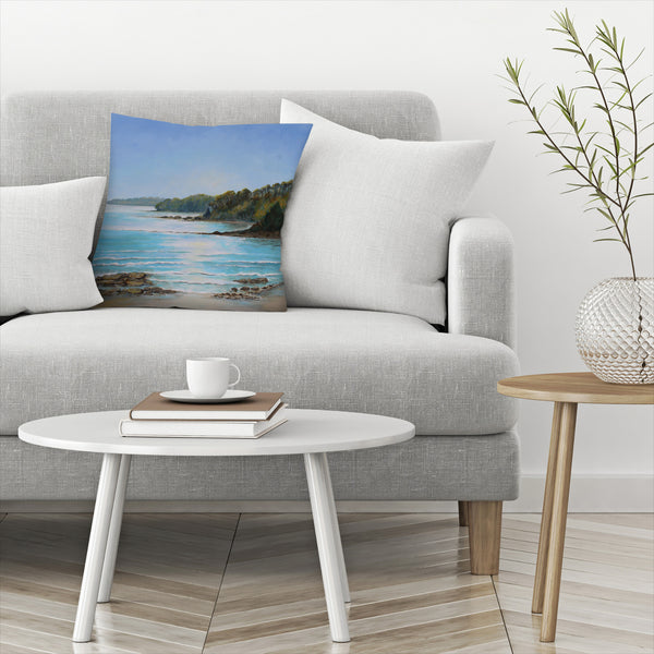 Sea Grove Morning by Sandra Francis Decorative Pillow
