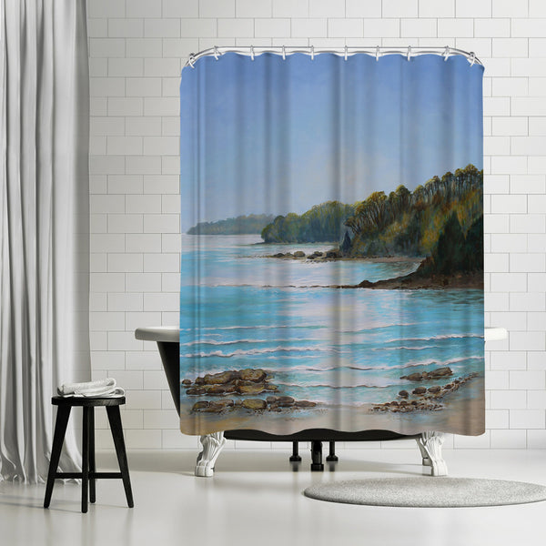 Sea Grove Morning by Sandra Francis Shower Curtain