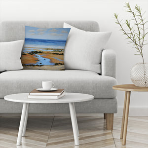 Seaweed On Rocks by Sandra Francis Decorative Pillow
