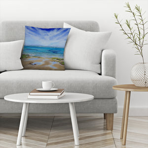 Solent View by Sandra Francis Decorative Pillow