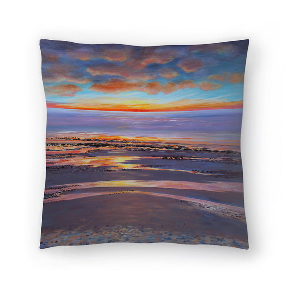Sunset Beach Glow by Sandra Francis Decorative Pillow