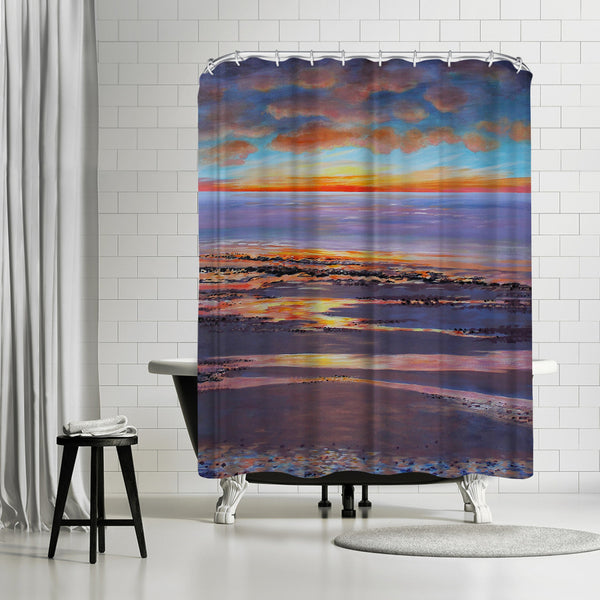 Sunset Beach Glow by Sandra Francis Shower Curtain