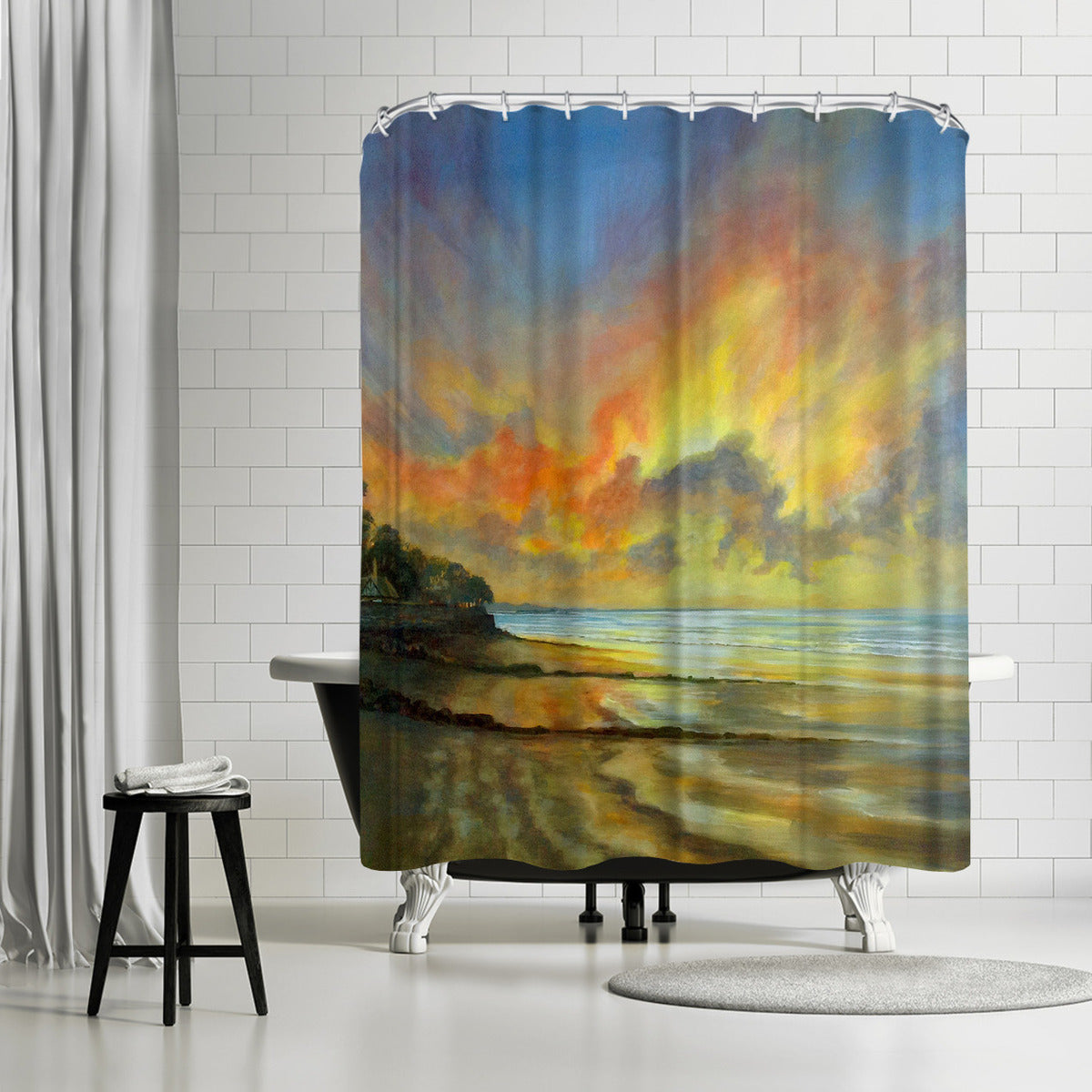 Sunset by Sandra Francis Shower Curtain - Shower Curtain - Americanflat