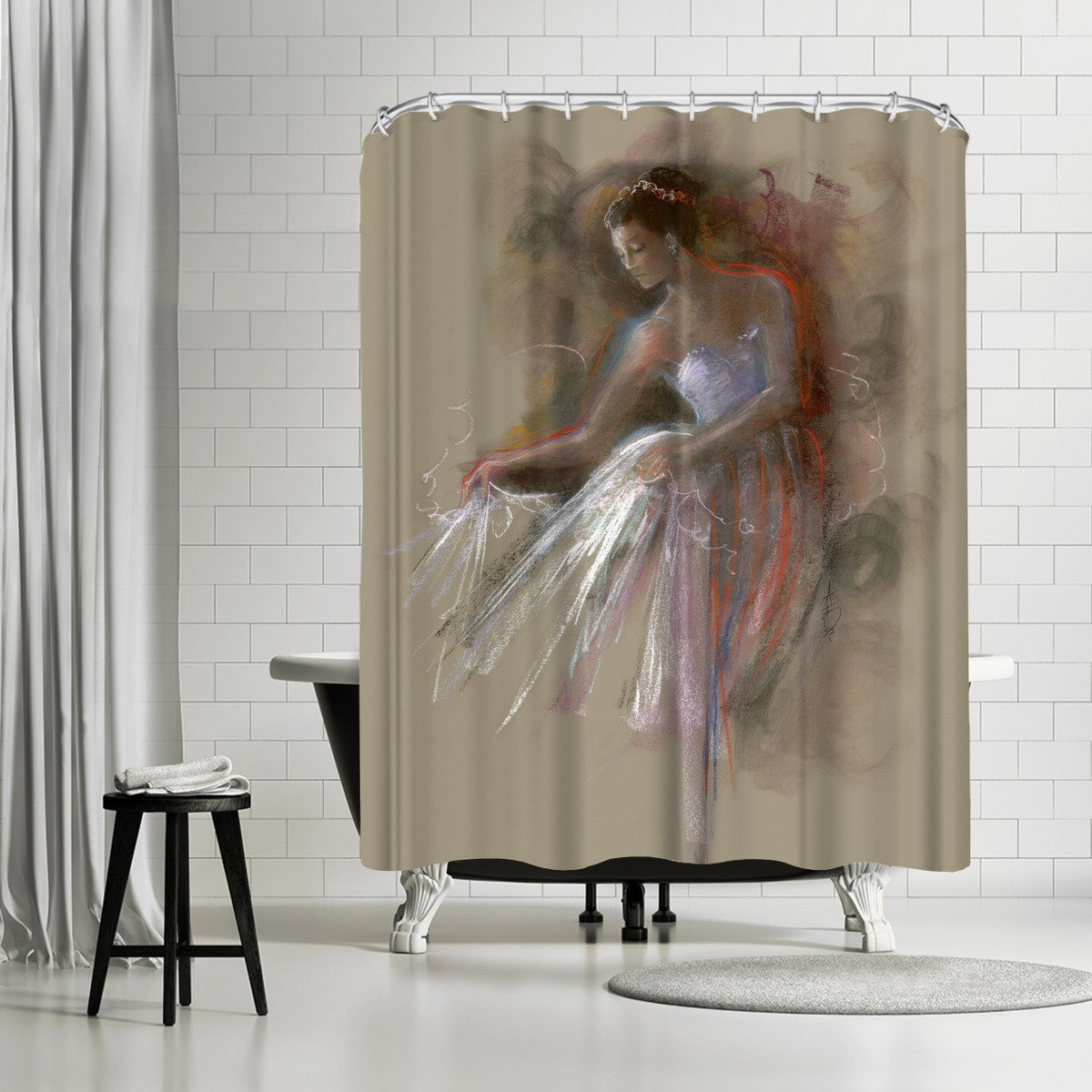 Annie 11 by Anne Farrall Doyle Shower Curtain - Shower Curtain - Americanflat