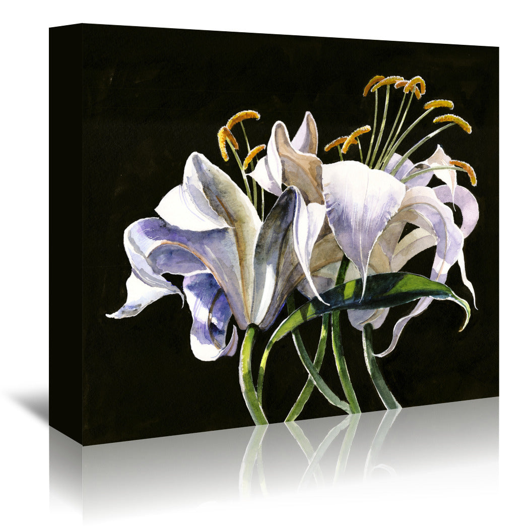 Classical Lilies by Anne Farrall Doyle Wrapped Canvas - Wrapped Canvas - Americanflat
