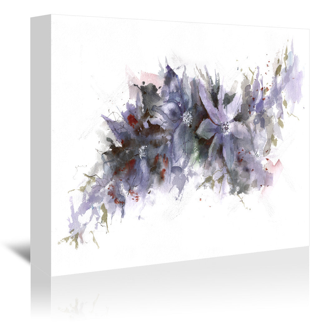 Climbing Clematis by Anne Farrall Doyle Wrapped Canvas - Wrapped Canvas - Americanflat