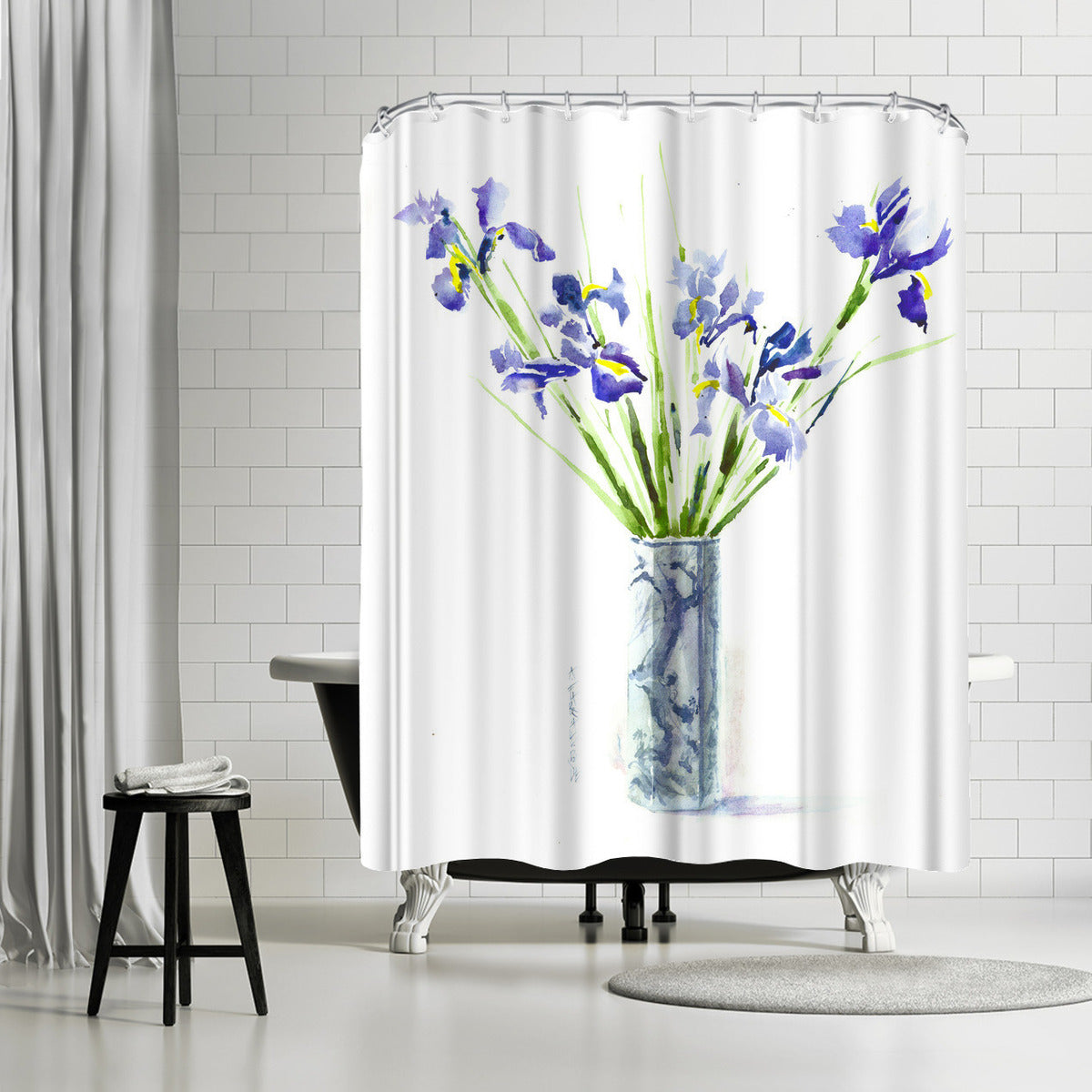 Iris by Anne Farrall Doyle Shower Curtain