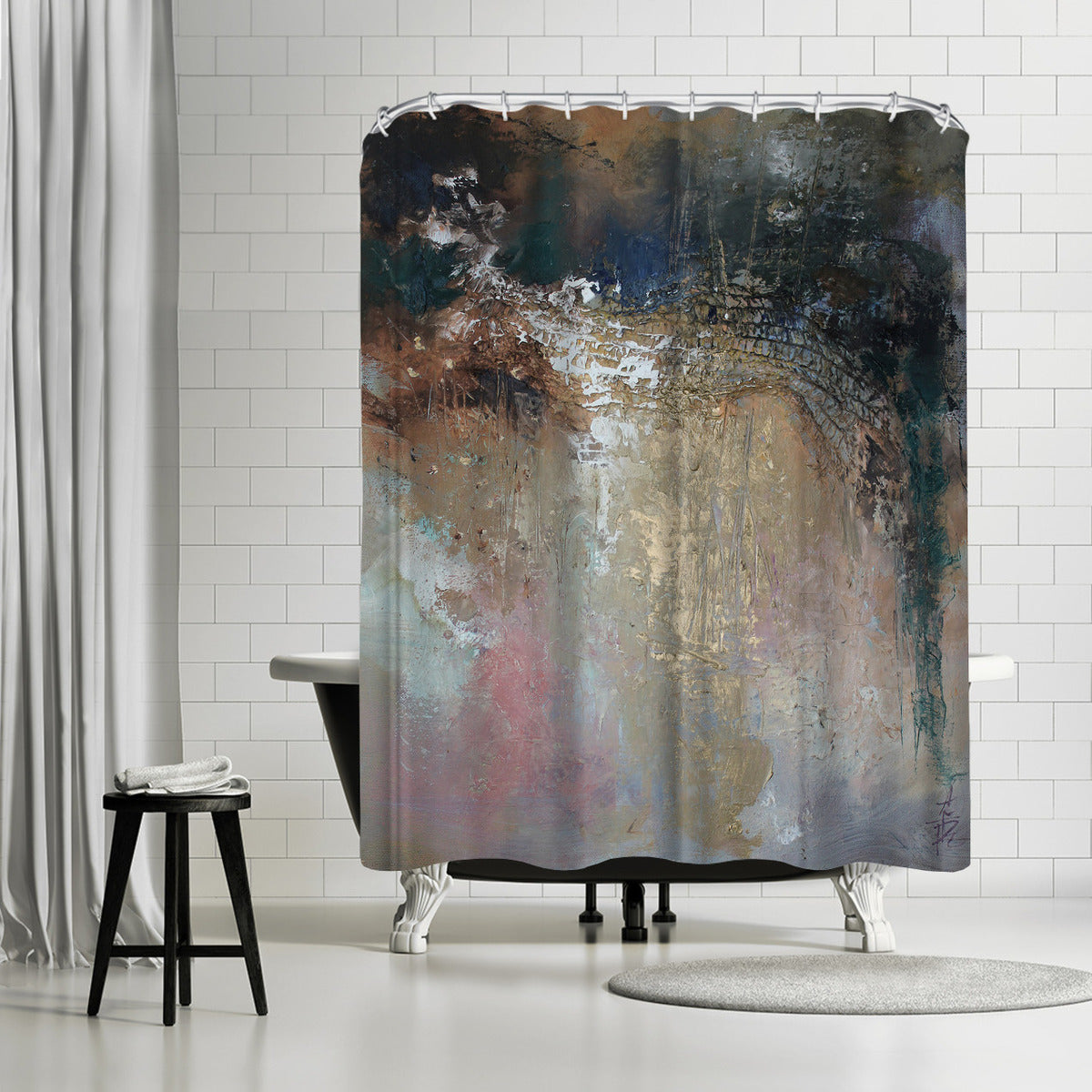 Netting by Anne Farrall Doyle Shower Curtain -  - Americanflat