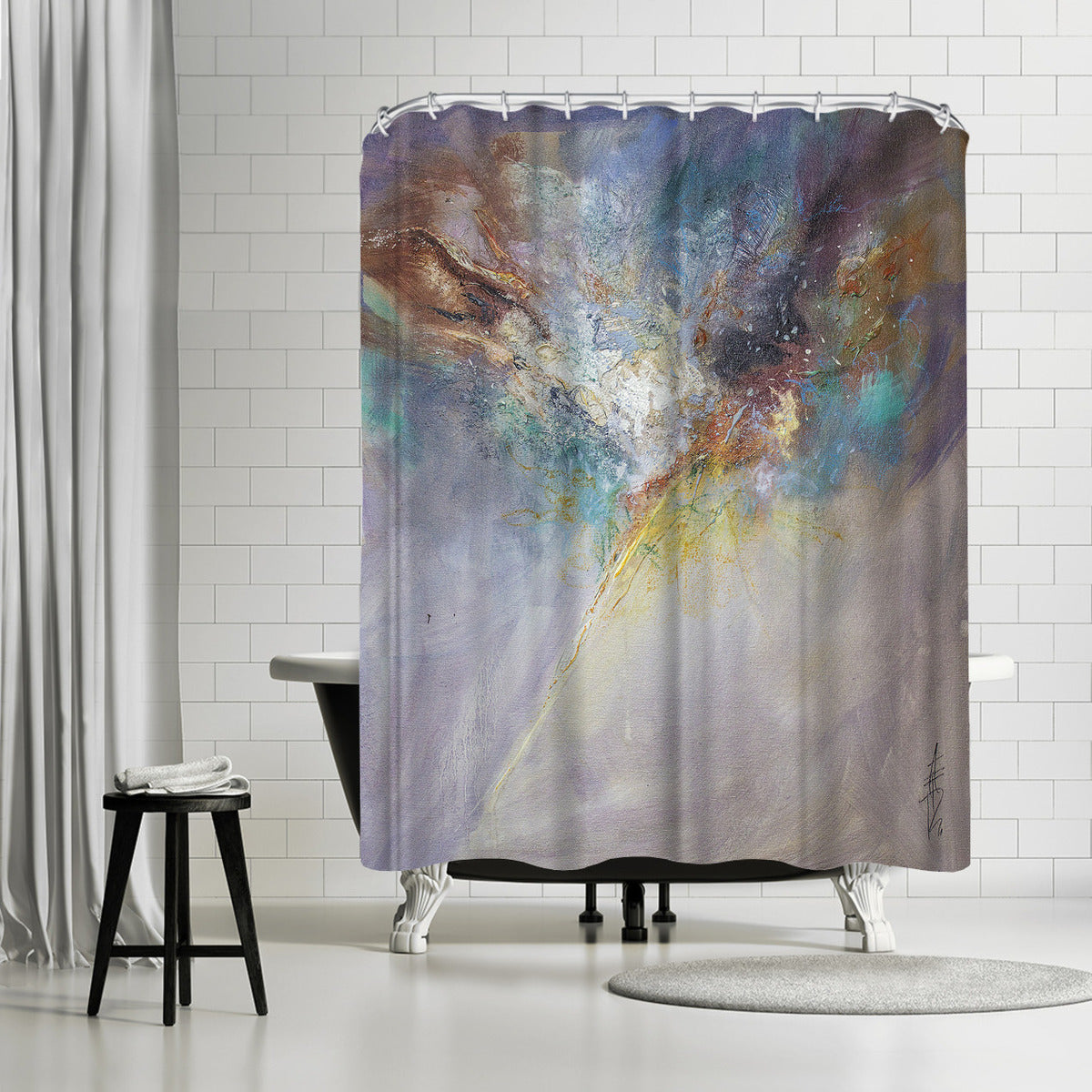 Celestial by Anne Farrall Doyle Shower Curtain - Americanflat