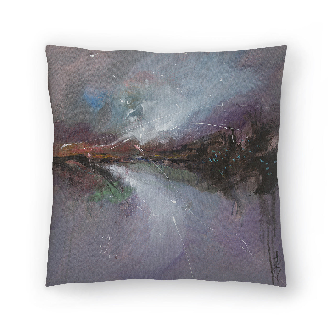 Embankment 2 by Anne Farrall Doyle Decorative Pillow - Decorative Pillow - Americanflat