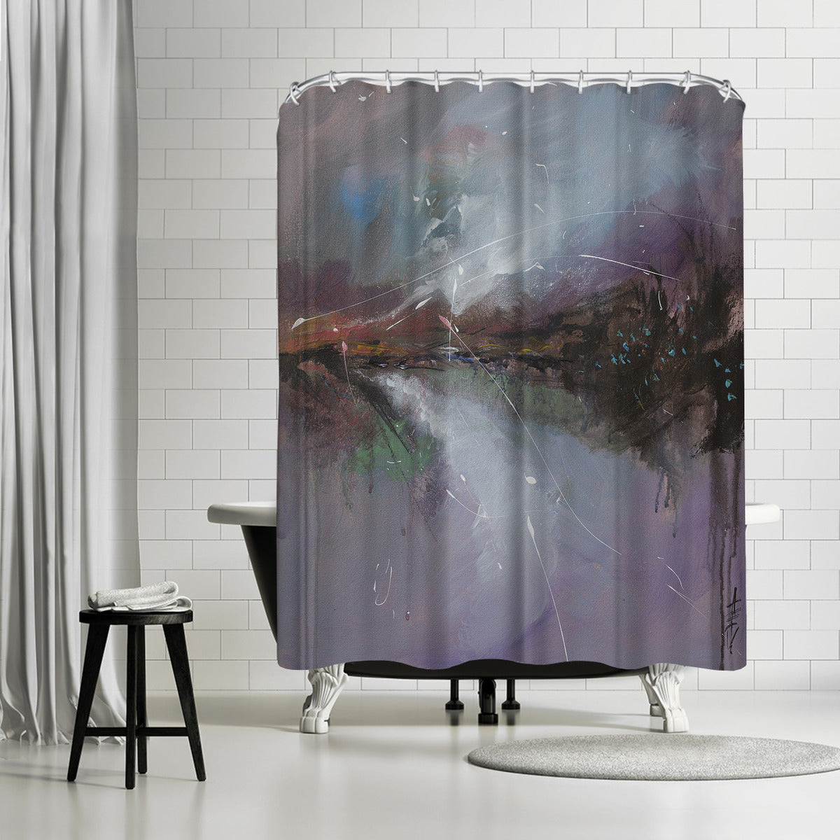 Embankment 2 by Anne Farrall Doyle Shower Curtain -  - Americanflat