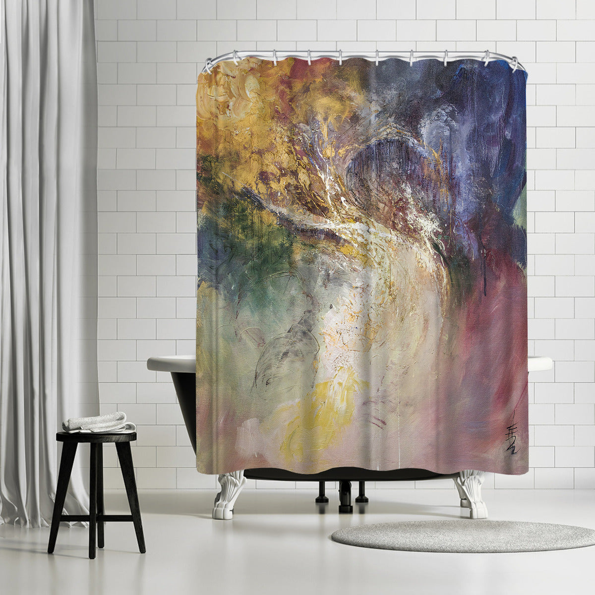 Firmament by Anne Farrall Doyle Shower Curtain -  - Americanflat