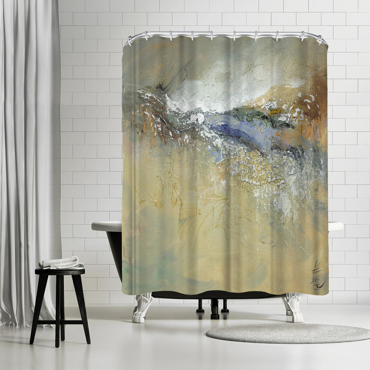 Organic 2 by Anne Farrall Doyle Shower Curtain -  - Americanflat