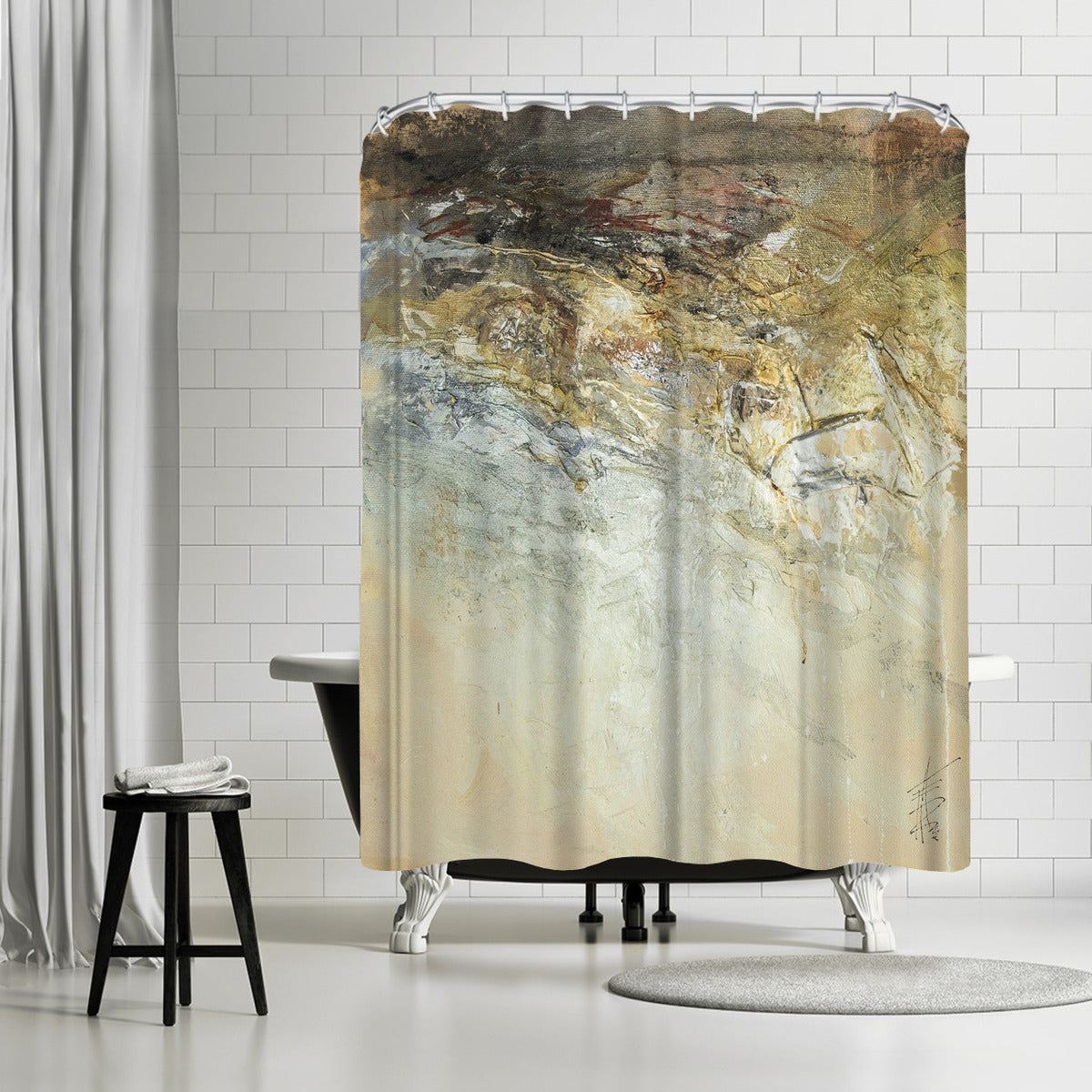 Organic 6 by Anne Farrall Doyle Shower Curtain -  - Americanflat