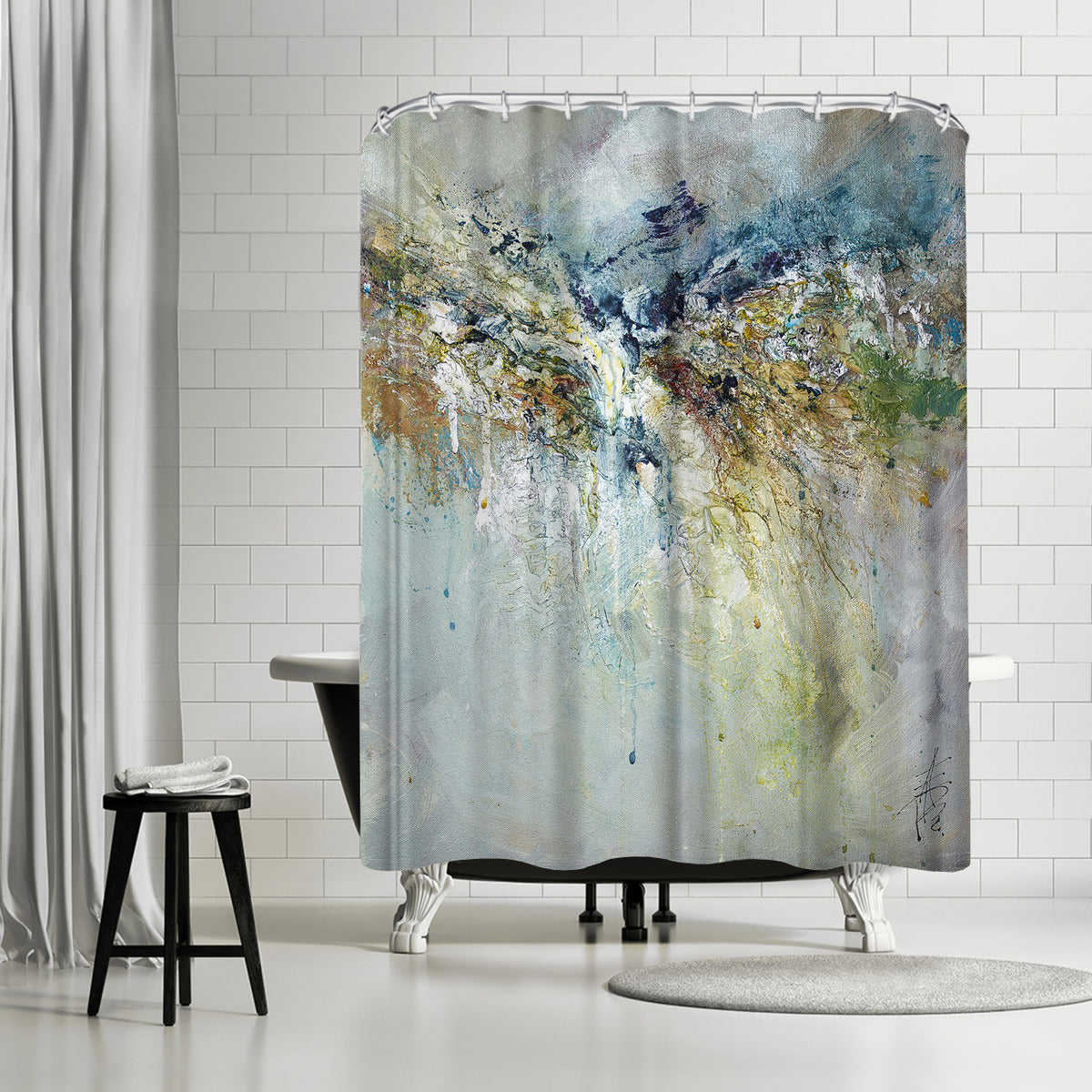 Organic 7 by Anne Farrall Doyle Shower Curtain - Shower Curtain - Americanflat
