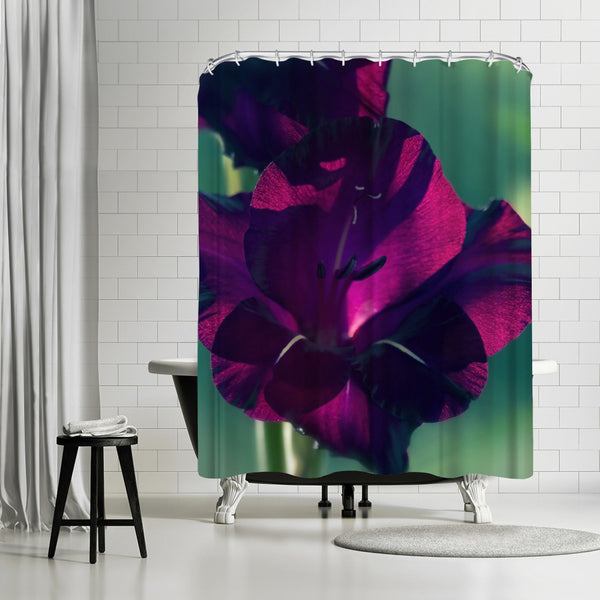 Gladiolus Drama Coloured by Mirja Paljakka Shower Curtain