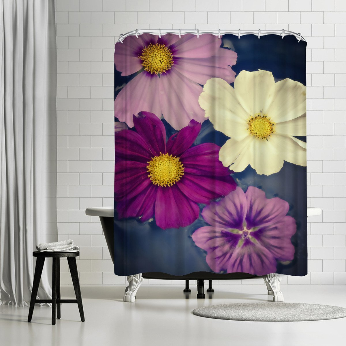 A Floral Four by Mirja Paljakka Shower Curtain - Shower Curtain - Americanflat