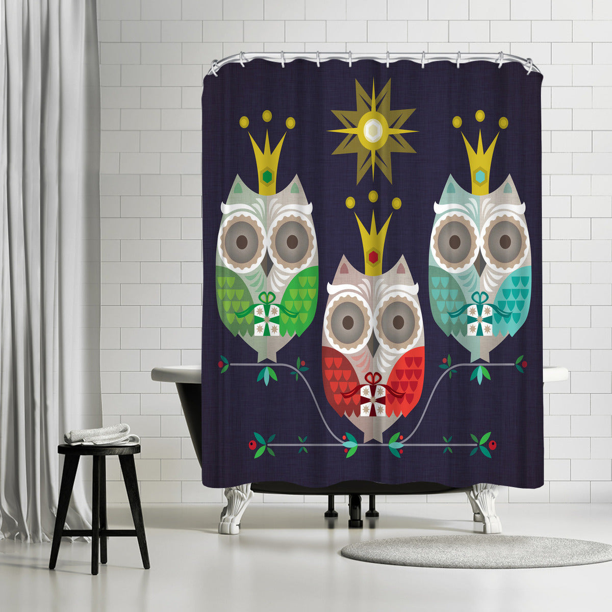 Owls by Amanda Shufflebotham Shower Curtain -  - Americanflat