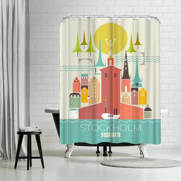 Stockholm Sweden by Amanda Shufflebotham Shower Curtain