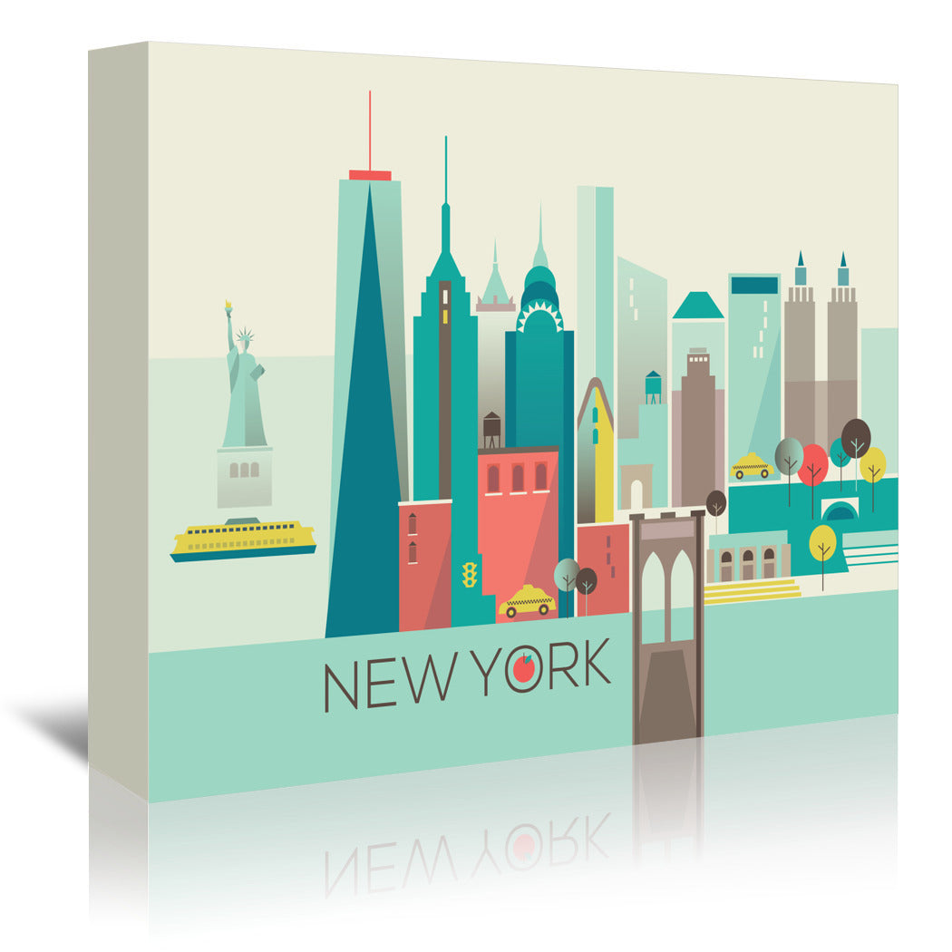 New York Copy by Amanda Shufflebotham Wrapped Canvas - Wrapped Canvas - Americanflat