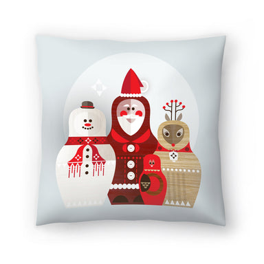 Christmas Russian Doll by Amanda Shufflebotham Decorative Pillow - Decorative Pillow - Americanflat