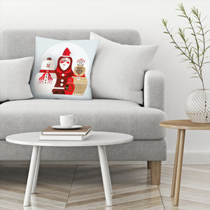 Christmas Russian Doll by Amanda Shufflebotham Decorative Pillow