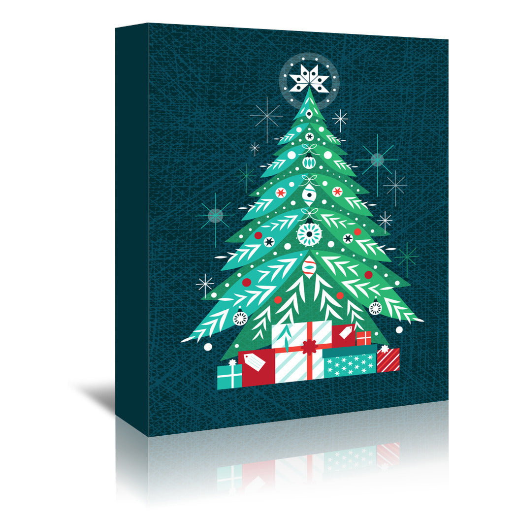 Christmas Tree by Amanda Shufflebotham Wrapped Canvas - Wrapped Canvas - Americanflat