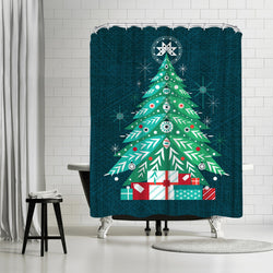 Christmas Tree by Amanda Shufflebotham Shower Curtain