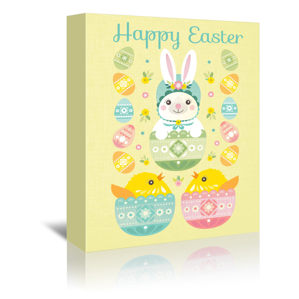 Happy Easter by Amanda Shufflebotham Wrapped Canvas - Wrapped Canvas - Americanflat