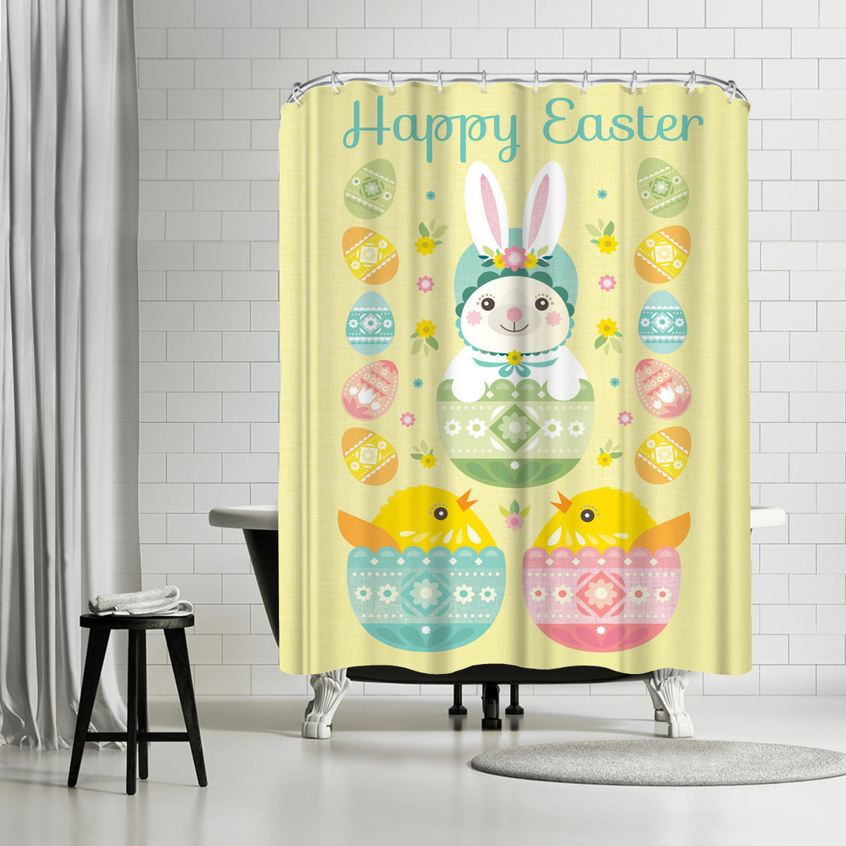 Happy Easter by Amanda Shufflebotham Shower Curtain -  - Americanflat