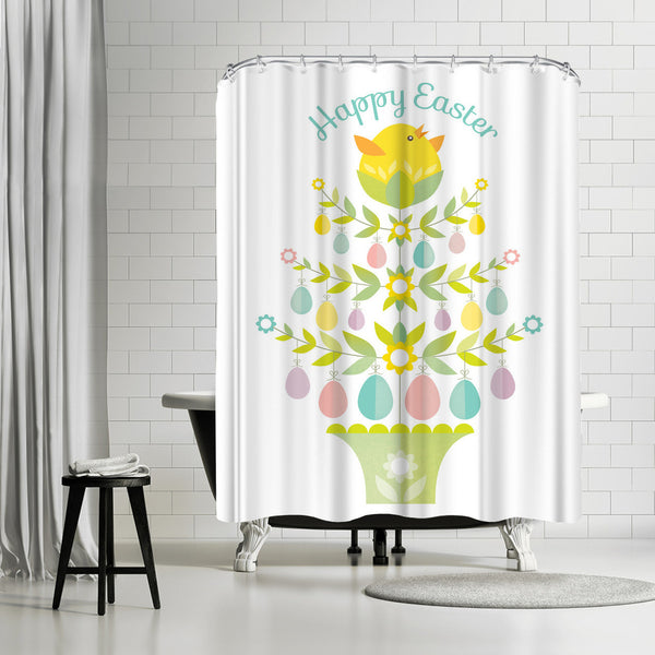 Happy Easter 2 by Amanda Shufflebotham Shower Curtain
