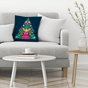 Tree Angel by Amanda Shufflebotham Decorative Pillow
