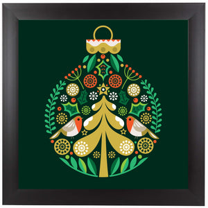 Christmas Decoration by Amanda Shufflebotham Framed Print