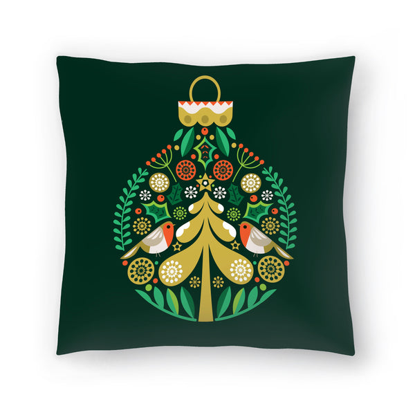 Christmas Decoration by Amanda Shufflebotham Decorative Pillow