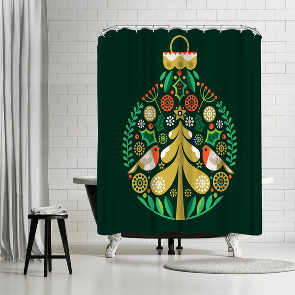 Christmas Decoration by Amanda Shufflebotham Shower Curtain