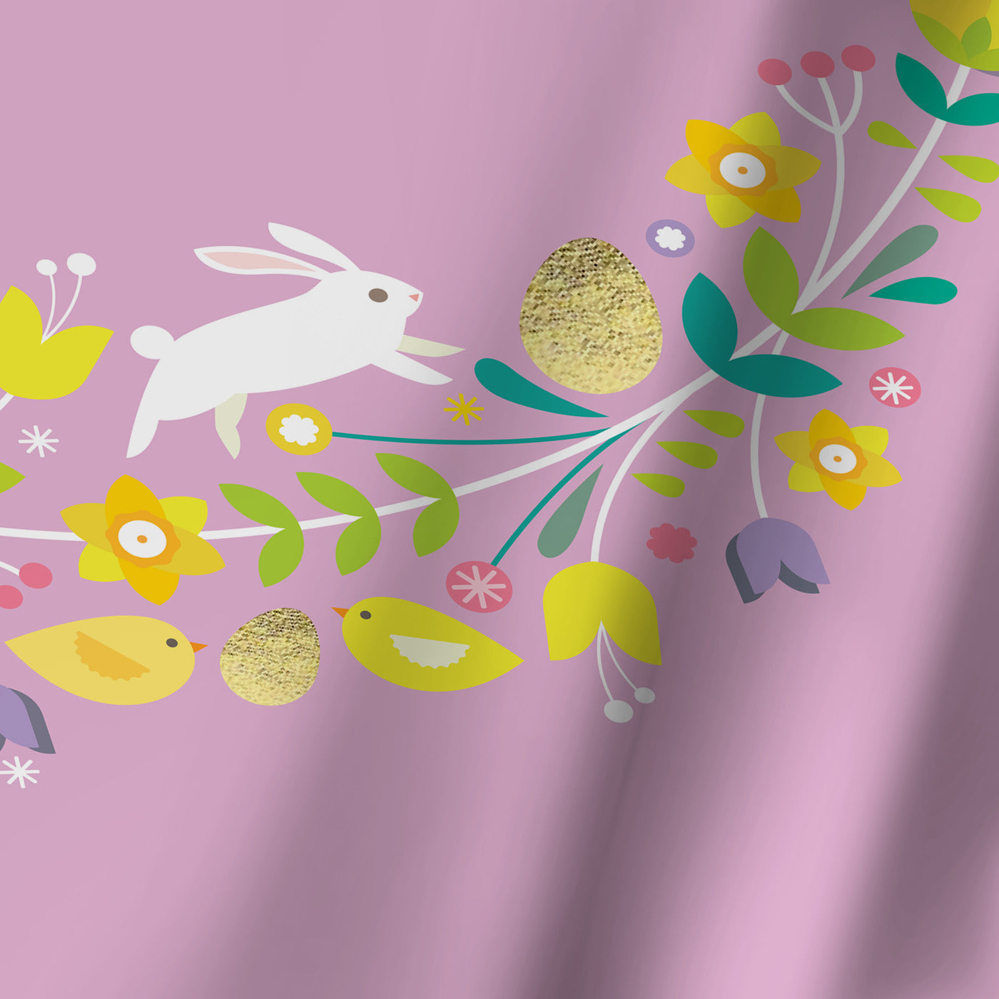 Happy Easter 3 by Amanda Shufflebotham Shower Curtain -  - Americanflat