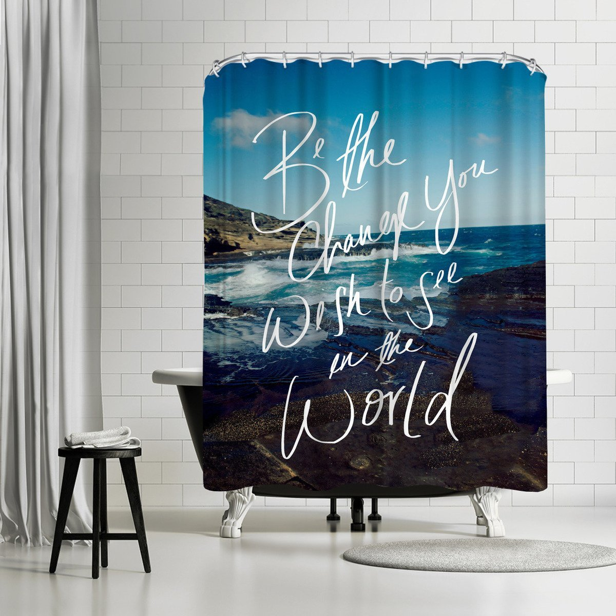 Be The Change by Leah Flores Shower Curtain - Shower Curtain - Americanflat