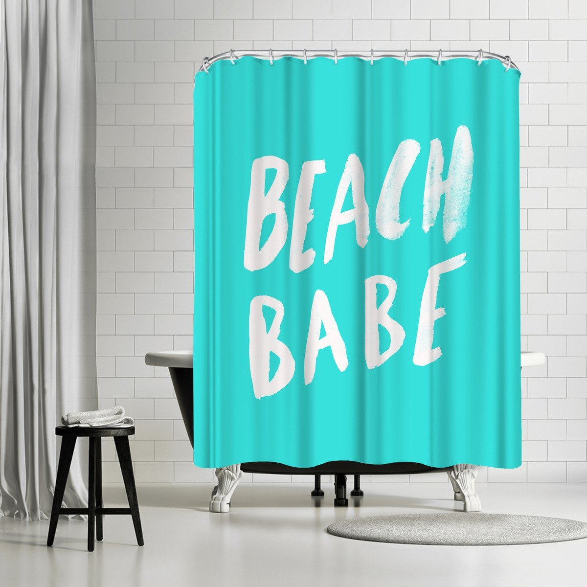 Beach Babe X Turquoise by Leah Flores Shower Curtain - Shower Curtain - Americanflat