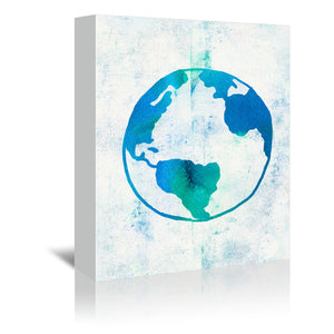 Earth Day by Leah Flores Wrapped Canvas