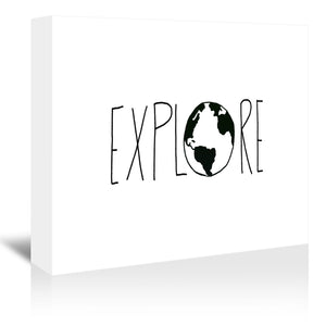 Explore The Globe by Leah Flores Wrapped Canvas
