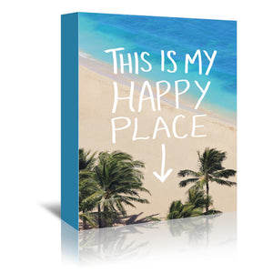 Happy Place Hawaii by Leah Flores Wrapped Canvas