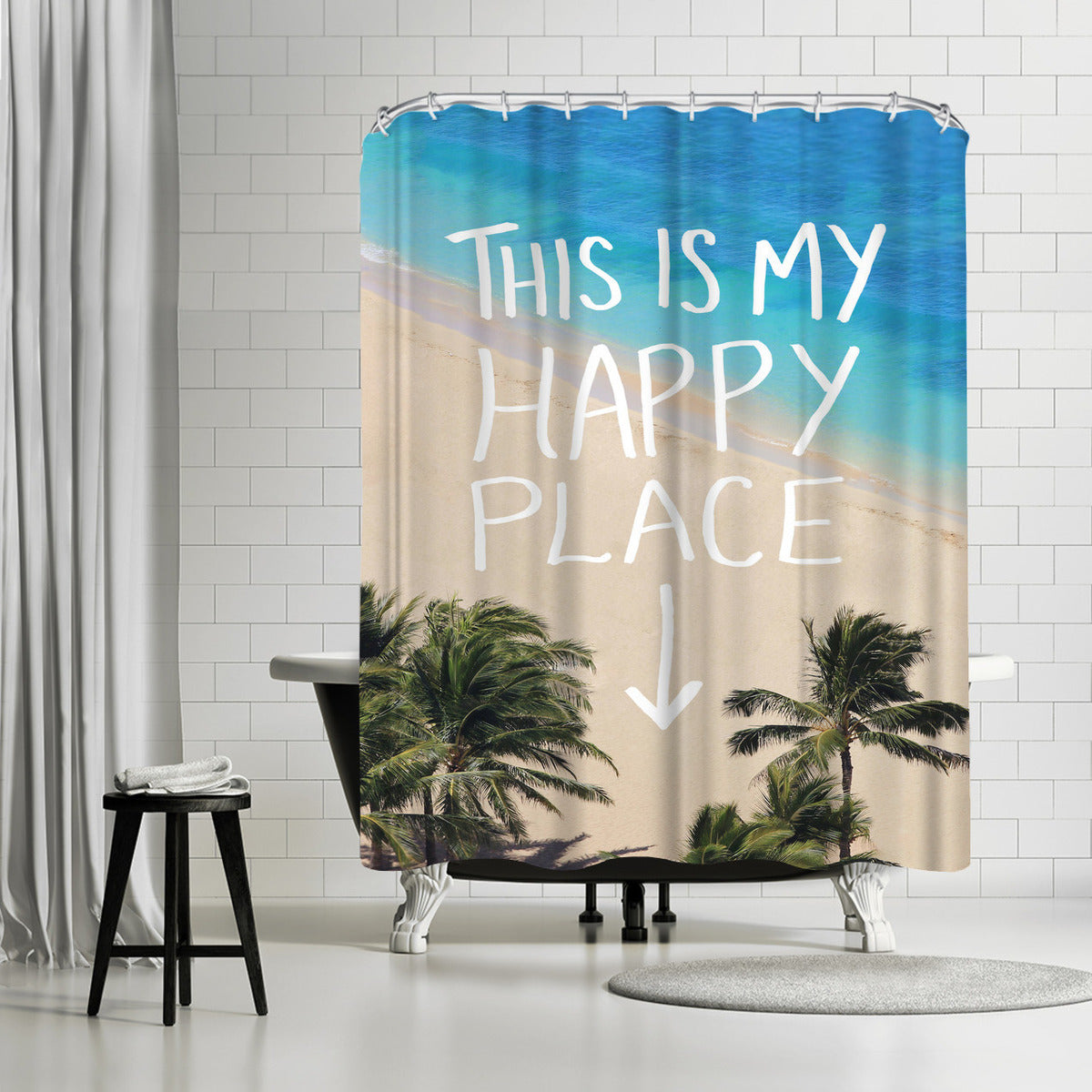 Happy Place Hawaii by Leah Flores Shower Curtain - Shower Curtain - Americanflat