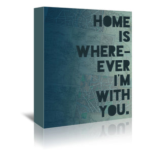Home by Leah Flores Wrapped Canvas