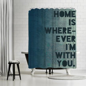 Home by Leah Flores Shower Curtain