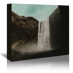 Iceland Waterfall by Leah Flores Wrapped Canvas