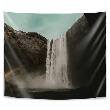 Iceland Waterfall by Leah Flores Tapestry - Wall Tapestry - Americanflat