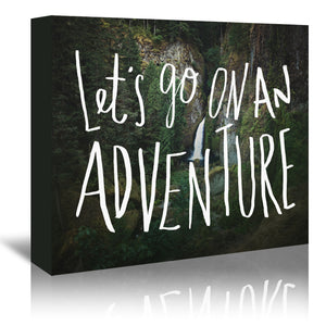 Let S Go On An Adventure by Leah Flores Wrapped Canvas