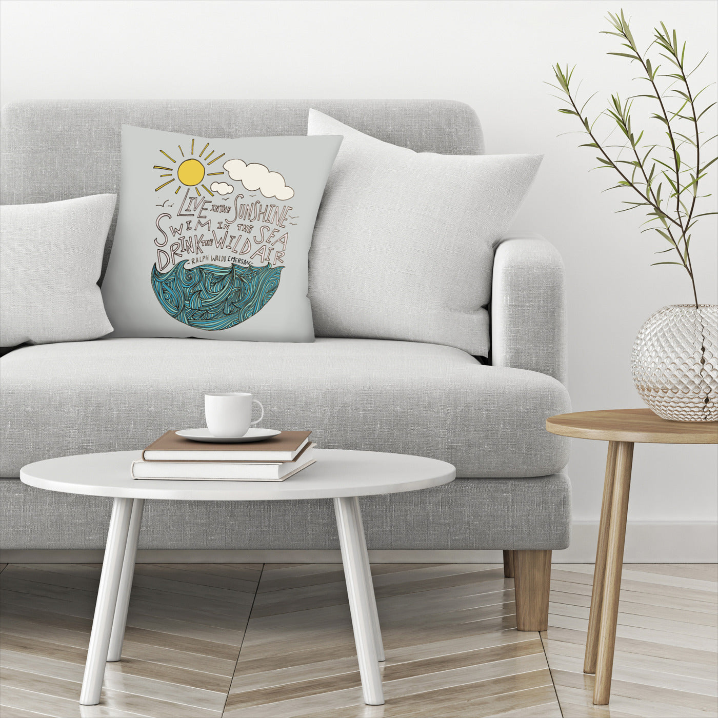 Live In The Sunshine by Leah Flores Decorative Pillow - Decorative Pillow - Americanflat