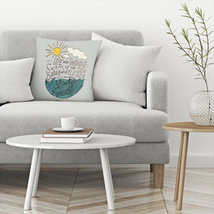 Live In The Sunshine by Leah Flores Decorative Pillow